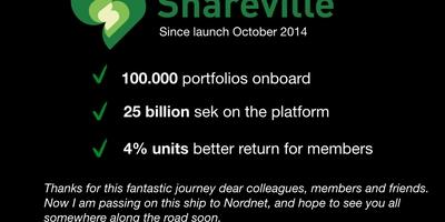 Sharevilles grundare och VD lämnar över till Nordnet